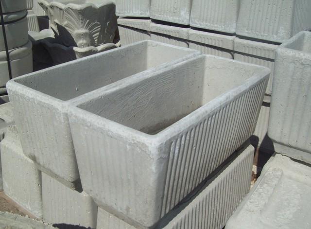 Vasi rettangolari in cemento prezzi